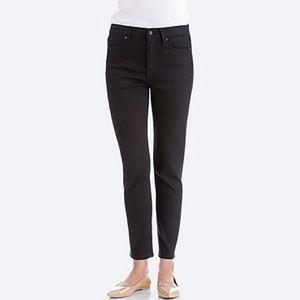 Black Uniqlo Ultra Stretch Mid Rise Jeans